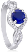 Doma Jewellery MAS02399-9 Sterling Silver Ring with Micro Set Cubic Zirconia - Size 9