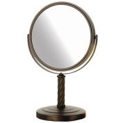 Jerdon Style LT5165BZ 20cm . 5X-1X Table Top Mirror Bronze Height 33cm .