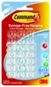 Command Clear Decorating Clip With 24 Adhesive Mini Strips Pack 20