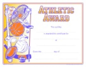 School Specialty Raised Print Athletic Recognition Nuline Award Pack - 25