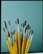 Jack Richeson Finest Sabeline Short Handle Watercolour Paint Brush Pack 36