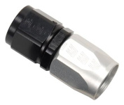 Russell-Edel 610043 Black & Silver Full Flow Straight Hose End Fitting