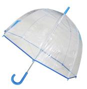 Conch Umbrellas 1265Blue Bubble Clear Umbrella Dome Shape Clear Umbrella