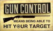 IWGAC 049-13083 Wood Gun Control Sign
