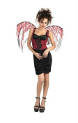MorrisCostumes DG14531 Wings Red Lace Black Corset