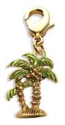 Whimsical Gifts 2550G Palm Trees Charm Dangle in Gold