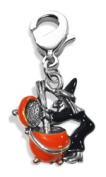 Whimsical Gifts 3424S Witch Charm Dangle Silver