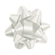 Deluxe Small Business Sales 256-0214-9 7cm . Splendorette Star Bows White