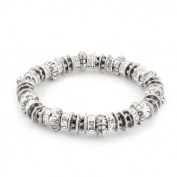 C Jewellery Silver-Tone Metal Crystal Stretch Bracelets