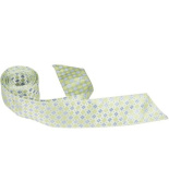 Matching Tie Guy 5375 XG22 HT - 110cm . Child Matching Hair Tie - Green With Green & Blue Squares