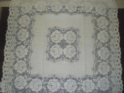 Tapestry Trading 6520W3636 90cm x 90cm . European Lace Table Topper White