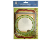 Bulk Buys CG380-72 Clear Cut Family Frames With Glitter Accents