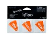 Bulk Buys KK927-96 Orange Tattoos