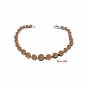 Fine Jewellery Vault UBBRBK7205W14SQ December Birthstone Smoky Quartz Graduated Bead Necklace in 14K White Gold 15 CT TGW