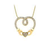 Fine Jewellery Vault UBPDH487Y14CZ Gorgeous. Heart Pendant in 14K Yellow Gold Beautiful Design