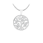 Fine Jewellery Vault UBPD3057AG Pretty Gift Circle Pendant in 925 Sterling Silver Cool Jewellery