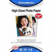 Paris Business Products 00590 Paris Business Products 00590 10cm . X 15cm . Printworks High Gloss Photo Paper 60 Count