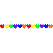 Hygloss Products Inc. HYG33626 Multi Colour Hearts Border