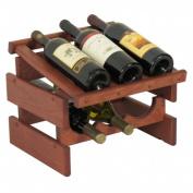 Wooden Mallet WRD31MH 6 Bottle Dakota Wine Rack with Display Top