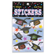 Beistle TT01 Hats Off Graduation Stickers Pack Of 6