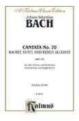 Alfred 00-K06041 Bach Cantata No. 70 V Book