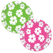 Beistle 58071 Hibiscus Plates Pack Of 12