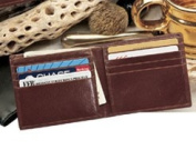Budd Leather 120011-2 Men's Leather Slim Wallet - Brown