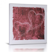 Green Frog Canvas Gallery Wrapped Art Decor, Heart Sketch