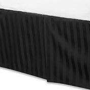 Black Luxury Bed Skirt