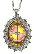 Solomons Seal 5th Pentacle of the Mercury to Open Doors of Any Kind Huge Silver Medallion Rhinestone Pendant