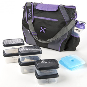 Fit and Fresh Jaxx FitPak Ares with Portion Control Container Set, Purple
