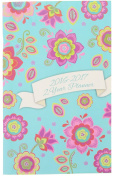 2016-2017 2 Year Monthly Planner - Light Blue Floral