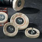 Dico Products 527-41-4M Cushion Sewn Mounted Buff Wheel - 15cm .