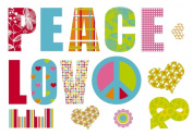 Komar Freestyle FS17718 Love And Peace Wall Decals