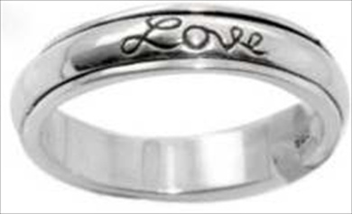 Solid Rock Jewellery 43894 Ring Faith Hope Love Spin Style 482 Stainless Steel Size 11
