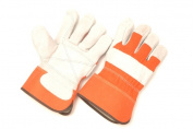 Seattle Glove 1360ID0-L Premium Select Shoulder Leather Palm Glove Orange Large - Pack of 12