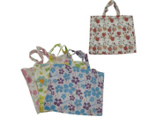 Large flower tote bag assorted designs - Case of 48
