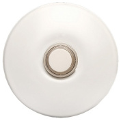 Nicor Lighting ECSBWH Wired Lighted Stucco Push Button for Prime Chime Door Bell Kit -White