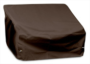 KoverRoos 92350 Weathermax 2-Seat-Loveseat Cover Chocolate - 54 W x 38 D x 31 H in.