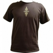 AutoLoc Power Accessories AUTAW1TSLBNM AutoLoc Medium Brown Short Sleeve Pinstripe T Shirt STYLE 1