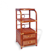 Rattan Wicker Accent End Phone Night Table