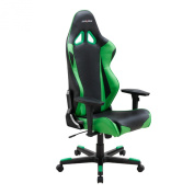 DXRacer RF0/NE Black Green Racing Bucket Seat Office Chair Gaming Ergonomic with Lumbar Support