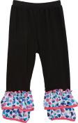 Wenchoice Girl's Black Polka Dot-Trim Leggings