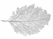 """Metallic Leaf Placemat14"""" x 60cm wipes clean Silver"""