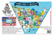 USA Map Activity Paper Placemats to Learn the States and Capitals 25 Double Sided Fun Worksheets