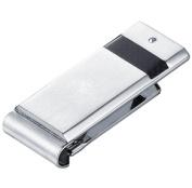 Visol VMC734 Roman Carbon Fibre Stainless Steel Engravable Money Clip