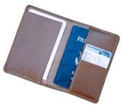 Dacasso a3242 Rustic Brown Leather Passport Holder