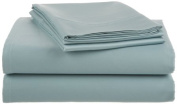 Crowning Touch by Welspun Ecct-Ss-Full-01 Cotton 500 Thread Count Aqua Blue Sheet Set