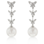 Kate Bissett E20041R-C84 Butterfly Pearl Dangle