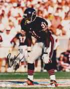 Rashaan Salaam Autographed Chicago Bears 8X10 Photo - 1994 Heisman Trophy Winner
